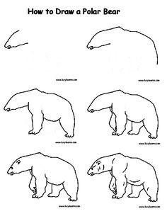236x305 Pin Drawn Polar Bear Line Drawing 4. How To Draw A Polar Bear. How