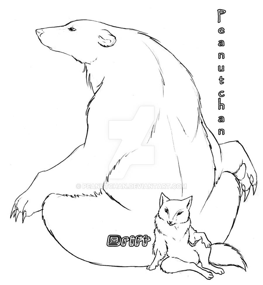 900x976 Characters Polar Bear + Fox By Peanuttie