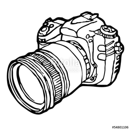 500x500 Dslr Camera Sketch Vector Stock Image And Royalty Free Vector