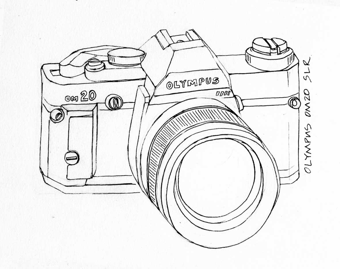 1181x935 Drawing Of A Camera