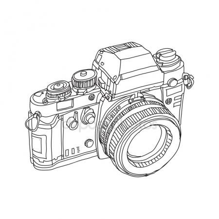 450x450 Vintage Old Photo Camera Vector Llustration Stock Vector