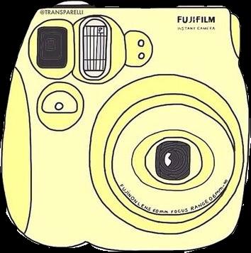 354x356 Yellow Pastel Polaroid Camera Instax Picture Pic Freeto