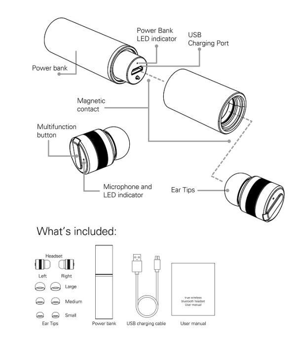 616x708 Polaroid Pr B100 True Wireless Bluetooth Headset Geekermart