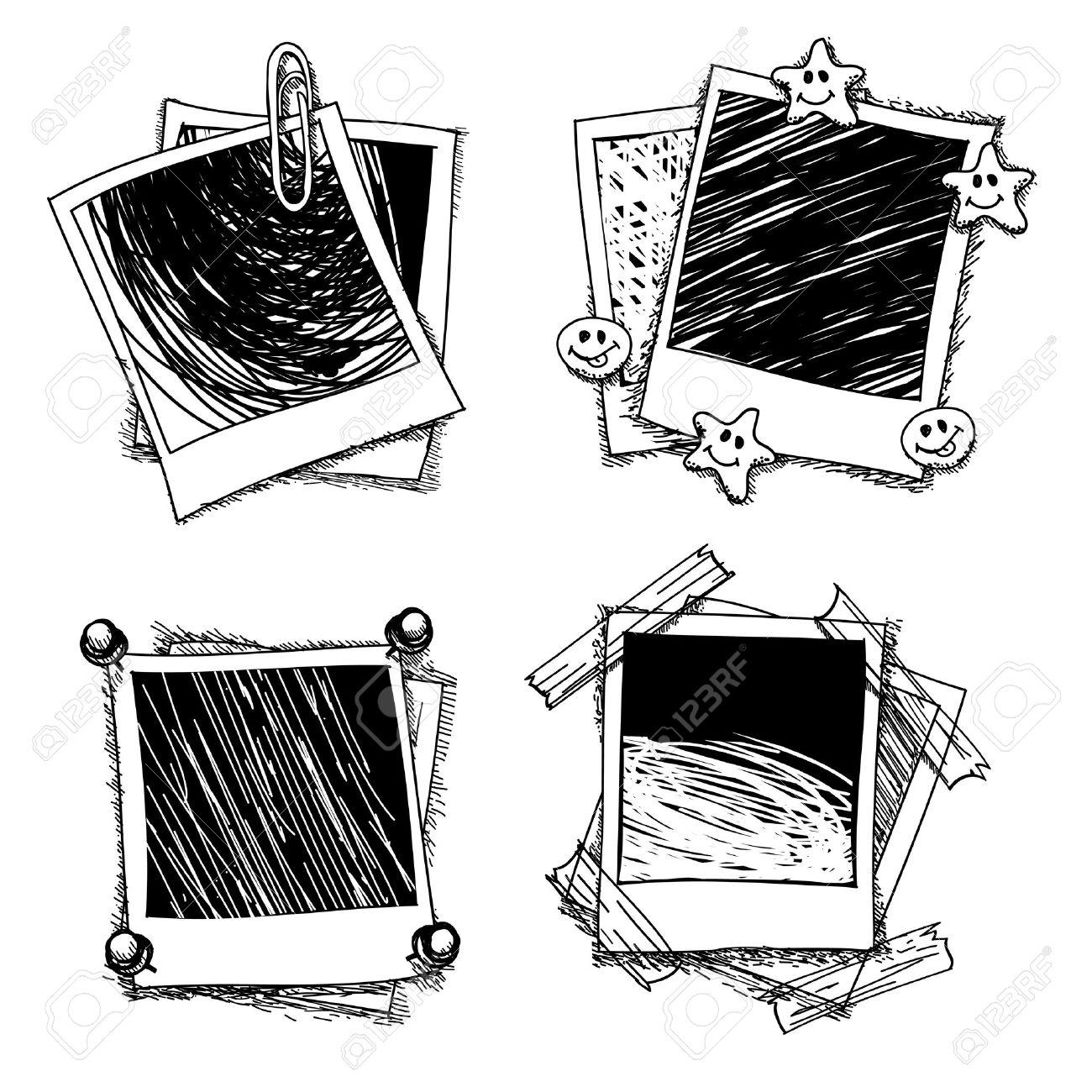 1300x1300 Vintage Doodle Photo Frames. Drawing Photoframe, Sketch