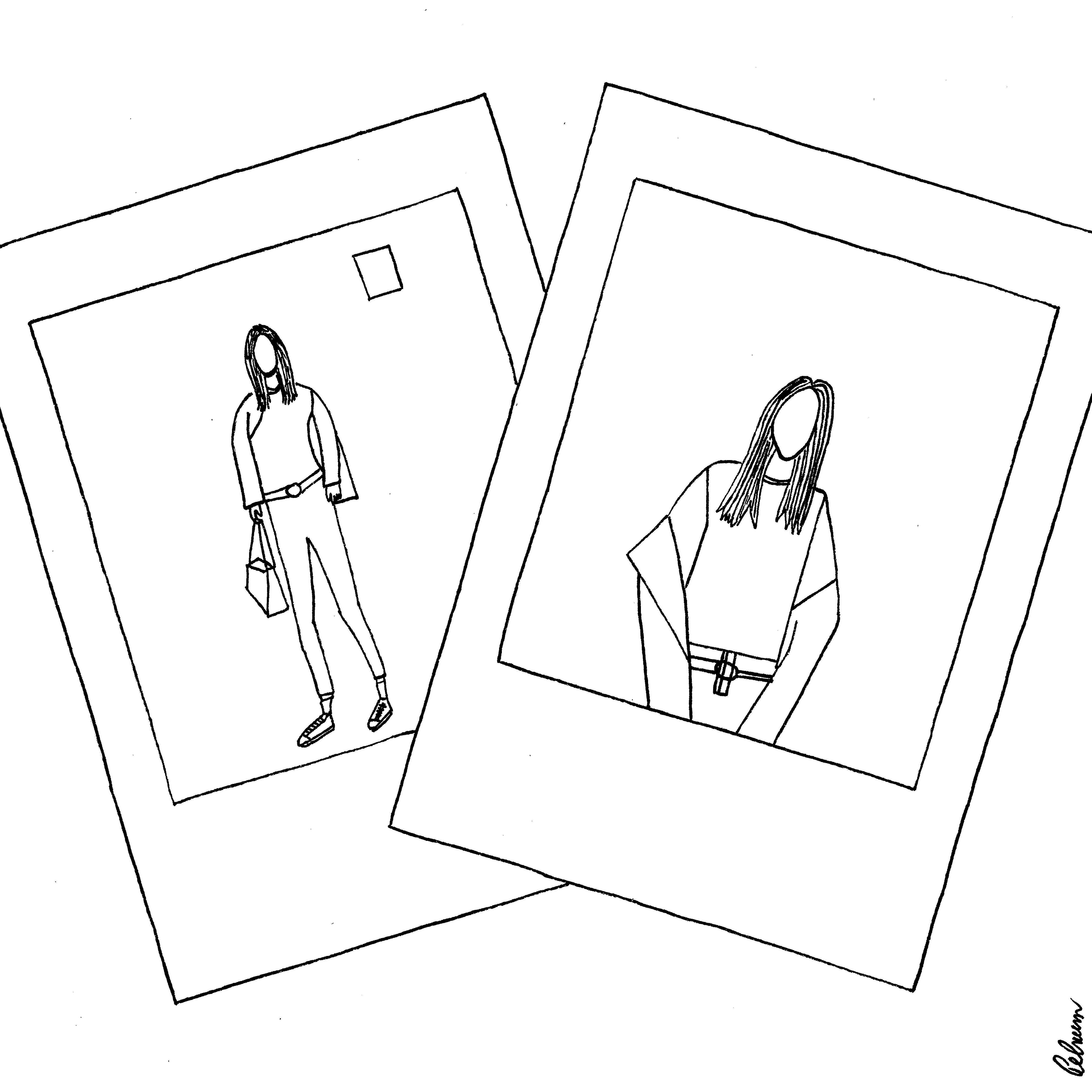 4735x4735 Polaroid Pen Drawing 21x21cm Art Polaroid And Drawings