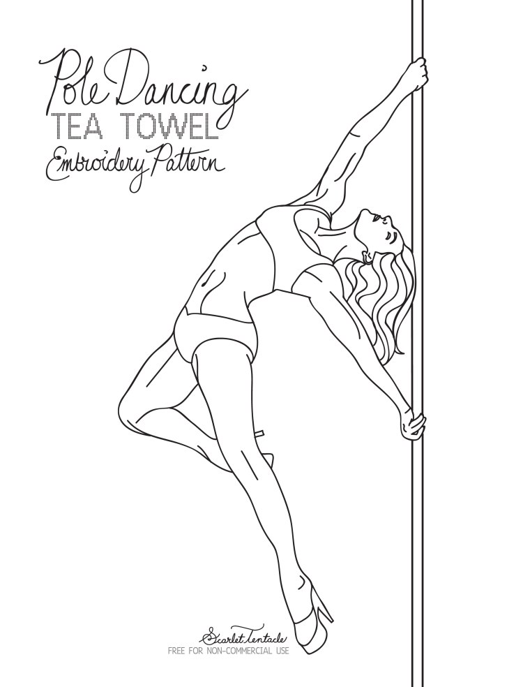 760x984 Free Embroidery Pattern Pole Dancing Pole Dancing, Embroidery