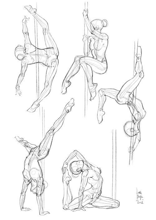 500x707 Pole Dance Art Reference Pole Dancing, Dancing