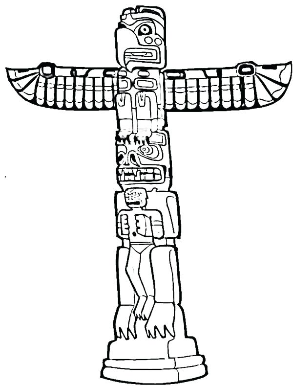 600x789 Totem Pole Symbols To Color Totem Pole See More Beaver Totem By