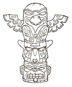 236x288 Animal Totem Poles Free Printable Pole Coloring Pages