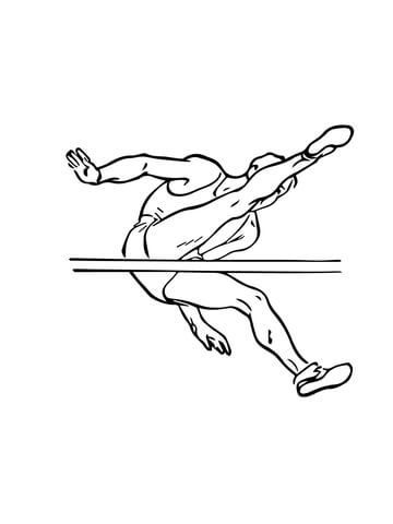 360x480 High Jump Coloring Page Free Printable Coloring Pages