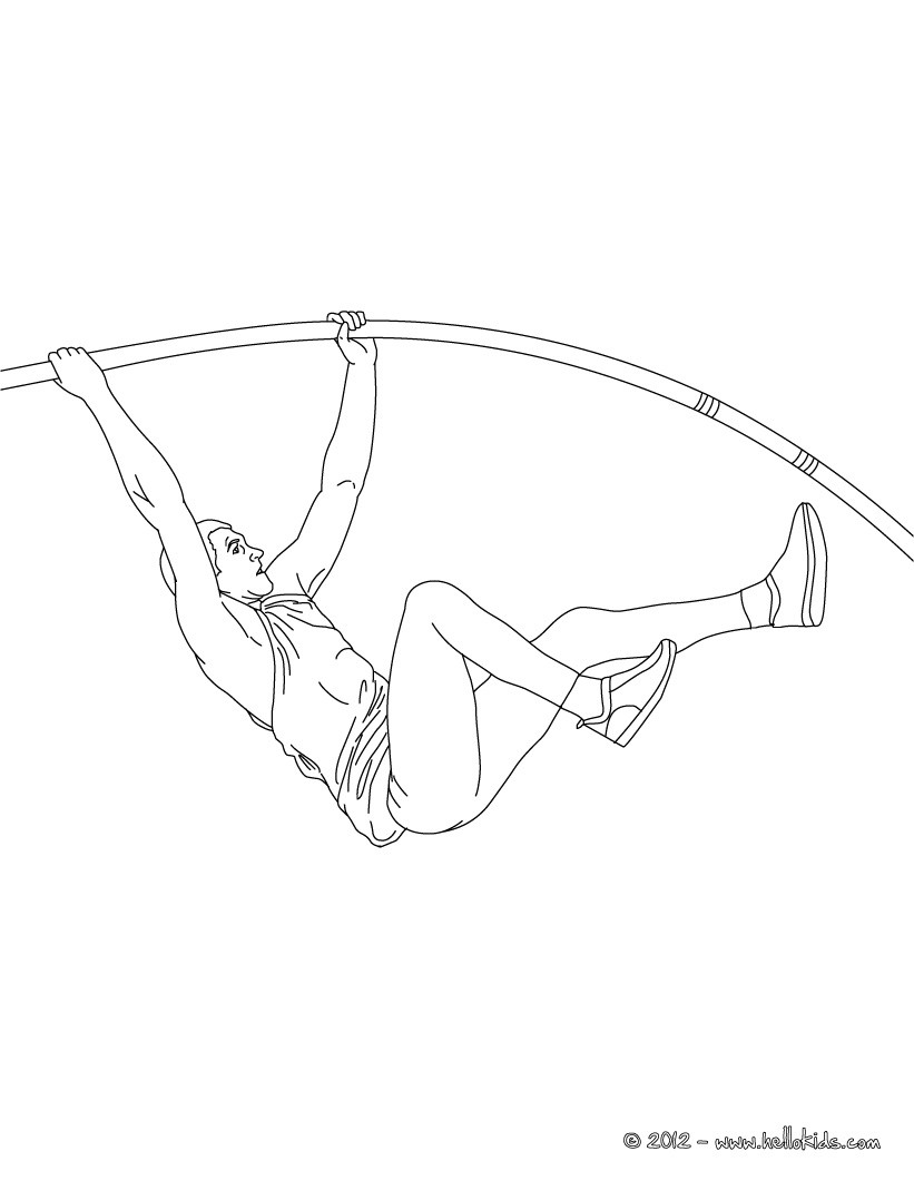 821x1061 Pole Vault Athletics Coloring Page. More Sports Coloring Pages