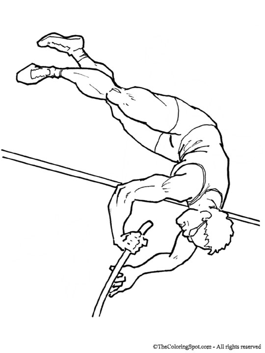 540x720 Pole Vaulter Audio Stories For Kids Amp Free Coloring Pages