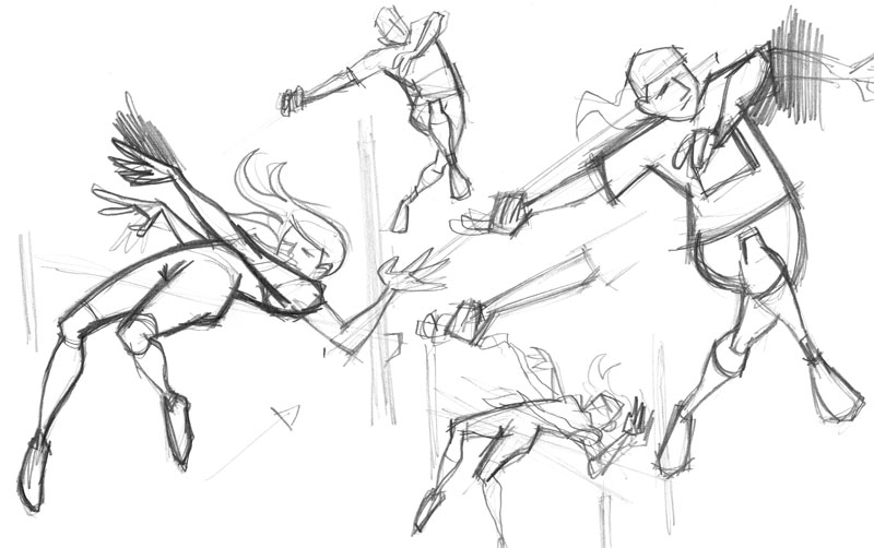 800x502 Track And Field Sketches