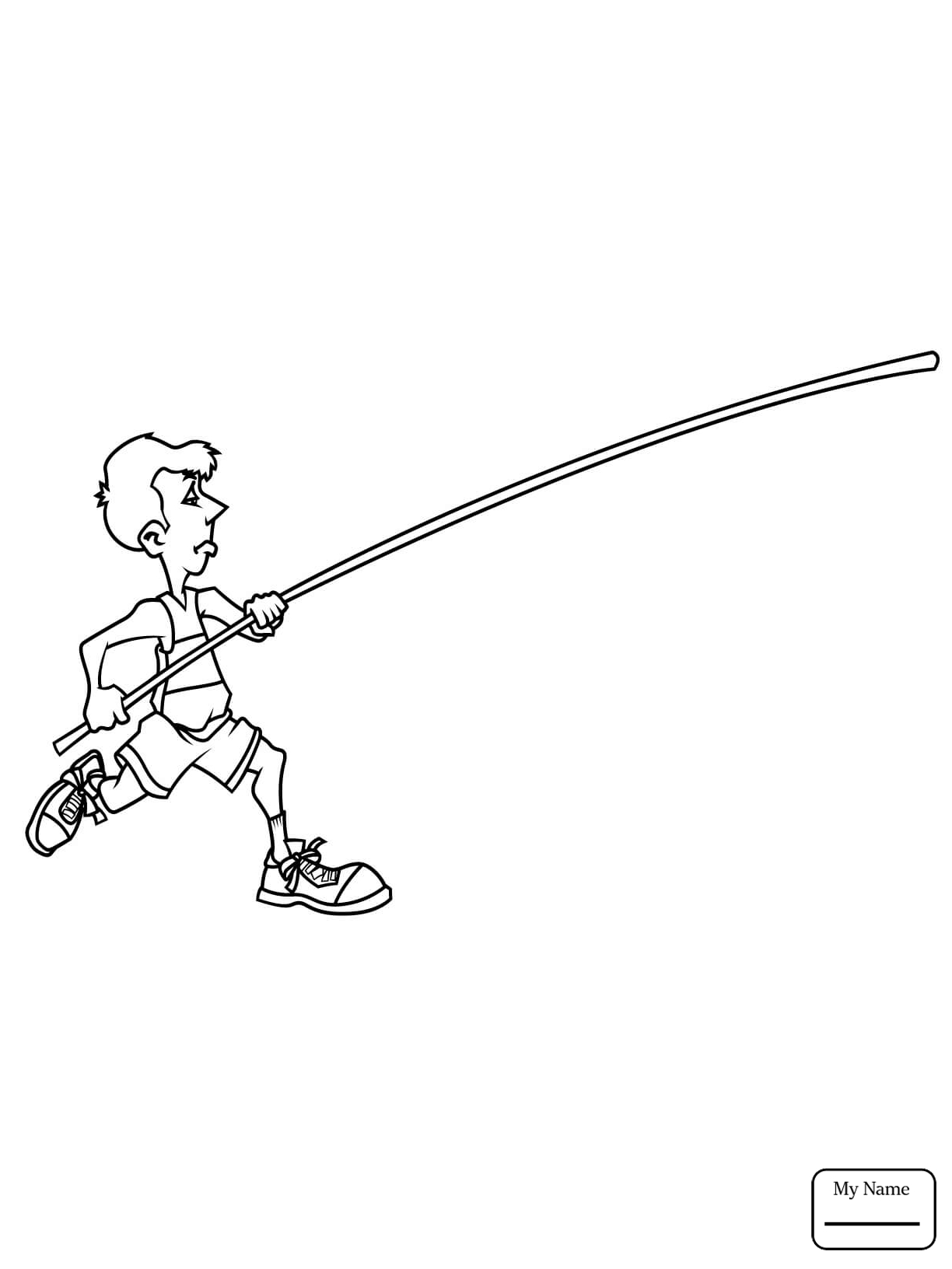 1224x1632 Athletics Sports Pole Vault Run Up Coloring Pages