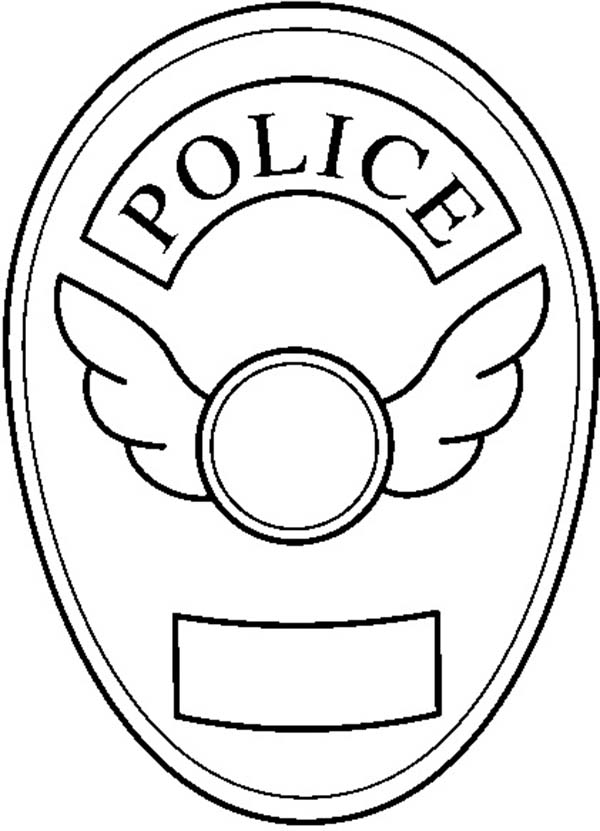 600x831 lifetime police badge coloring page blank sky