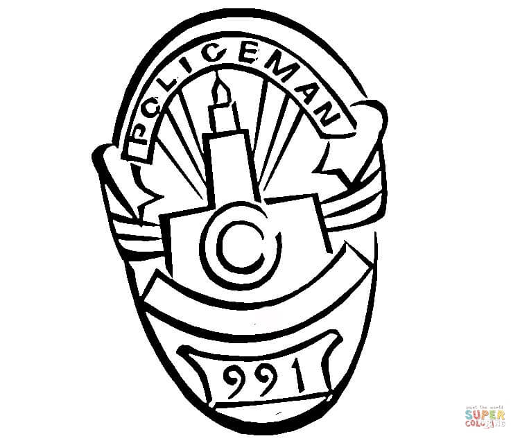 image about Printable Police Badges titled Law enforcement Badge Drawing at  No cost for unique