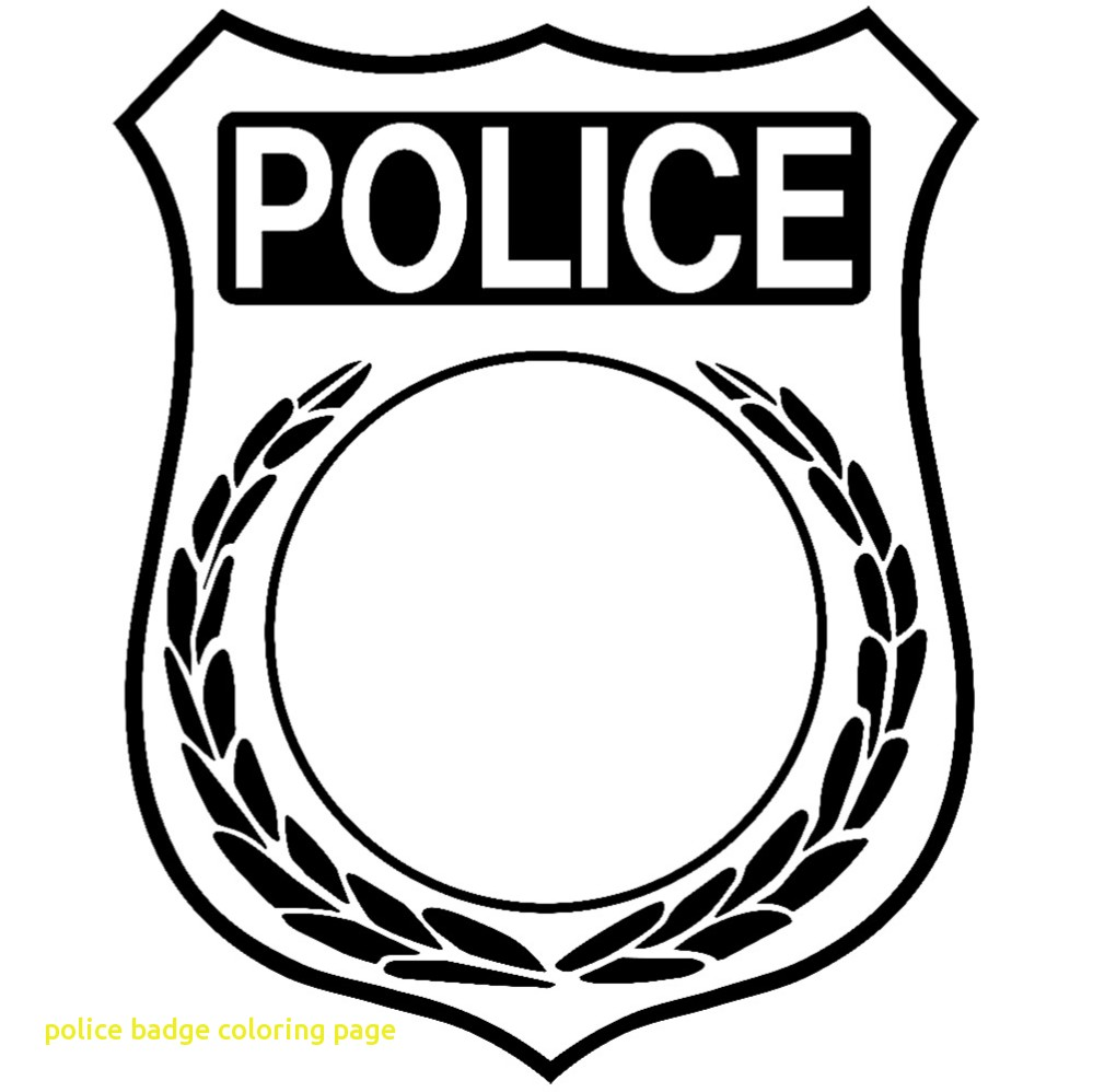 999x998 police badge coloring page coloringpageforkidsco