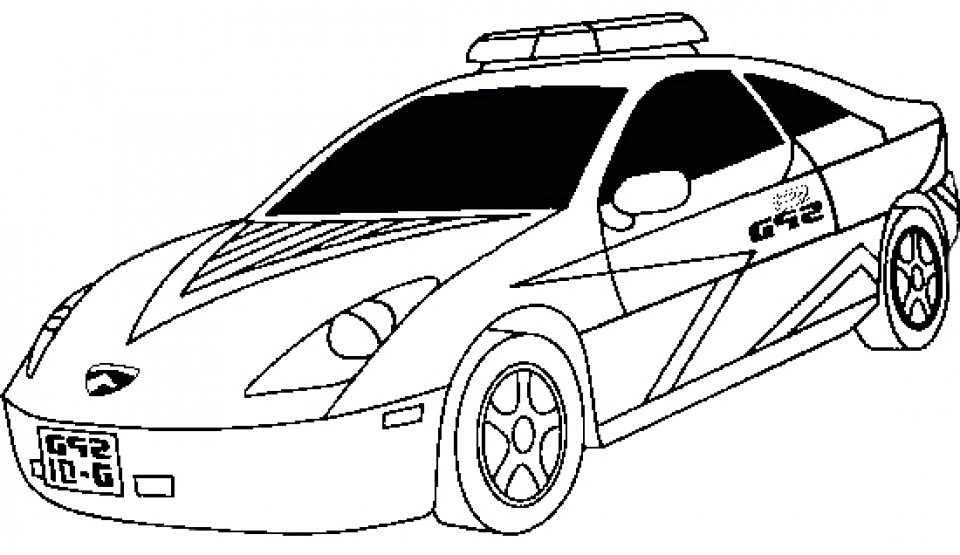It's just a photo of Revered coloring pages police car