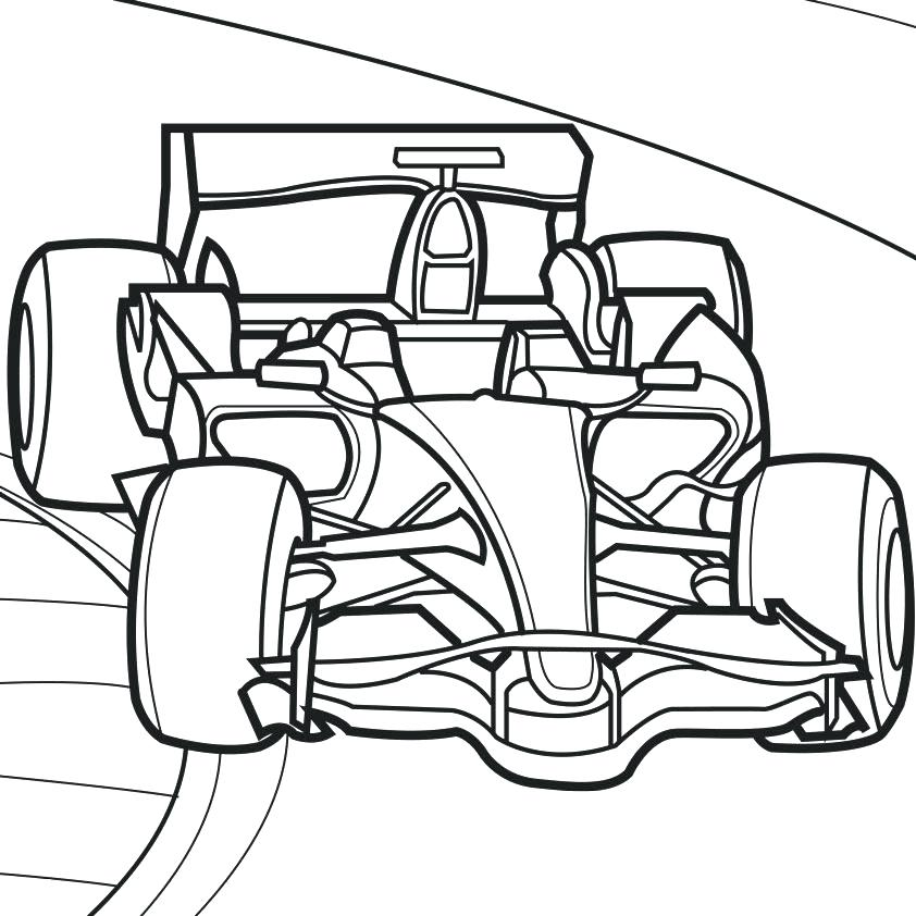 842x842 Car Coloring Book And Cop Car Coloring Pages Race Car Track