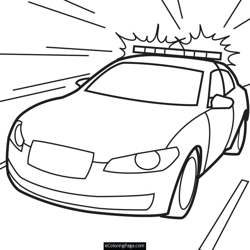 842x842 Policeman Coloring Page Police Car In Action Printable Coloring