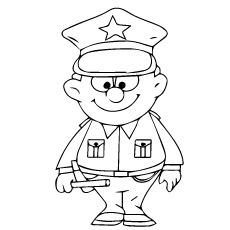 230x230 Simple Policeman Coloring Page 10 Best Police Car Pages Your