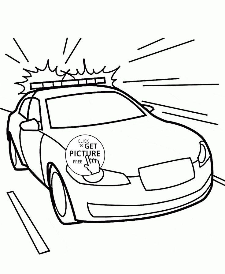 736x895 Drawn Car Police Car