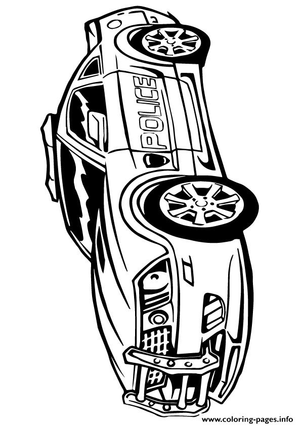 595x842 Free Download Transformers Police Car Color A4 Coloring Pages