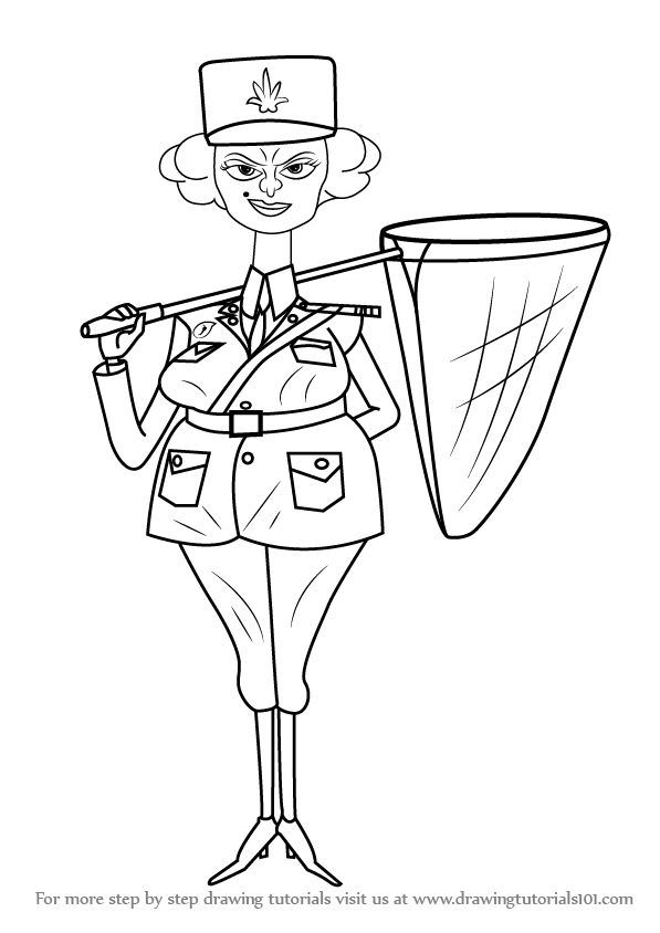 597x844 Learn How To Draw Police Officer From Madagascar (Madagascar) Step