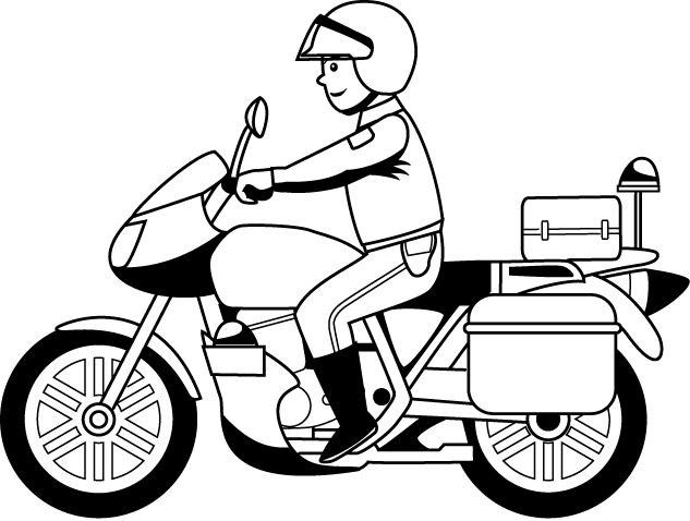 633x478 Police Motorcycle Clipart