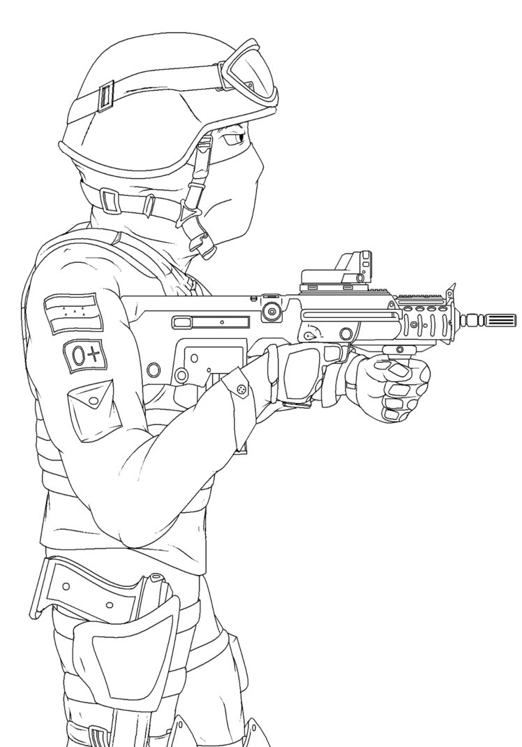 748x1069 Military Police Hn Paint Draw By Blackhunter12