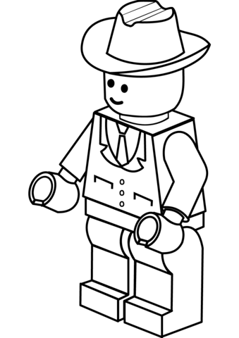339x480 Lego Man In Cowboy Hat Coloring Page Claude Lego