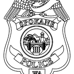 300x300 Police Badge Picture Coloring Page Coloring Sky