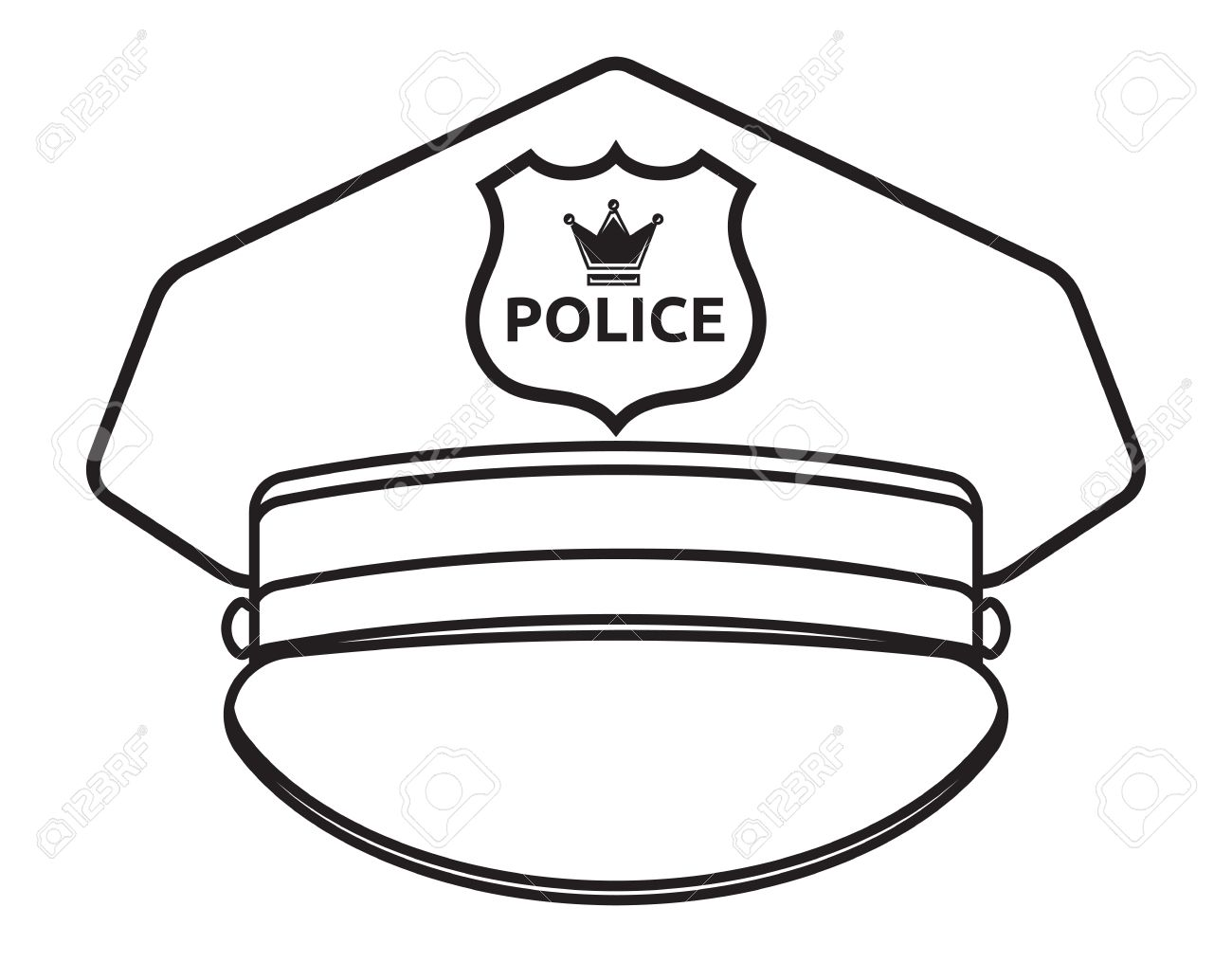 police hat drawing at getdrawings com free for personal Dr. Seuss Hat Silhouette Clip Art Tie Clip Art Dr. Seuss Hat