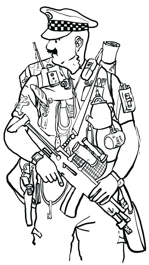 618x1101 Police Officer Coloring Page 13 As Well As Free Printable Police