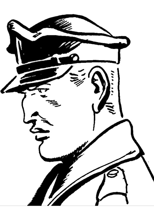 531x750 Coloring Page Police Officer