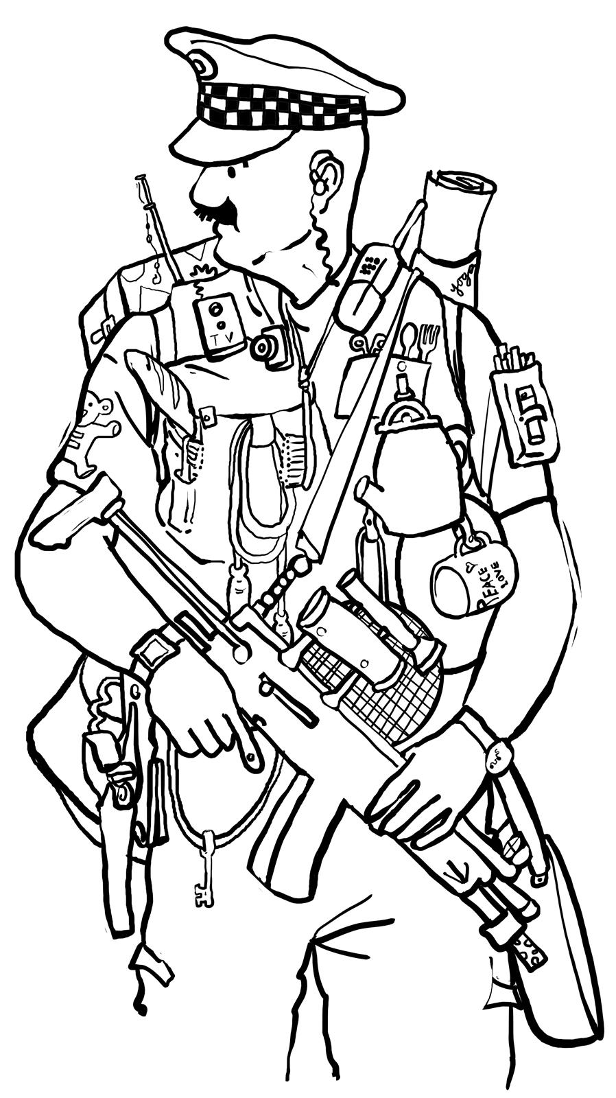 898x1600 Police Officer Coloring Pages