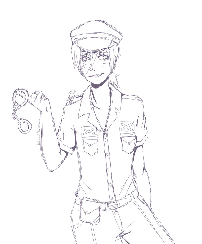 813x983 Police Officer Rin Matsuoka! By Raven269