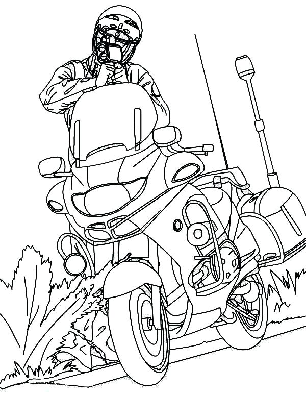 600x776 Printable Motorcycle Coloring Pages Coloring Page Police Officer