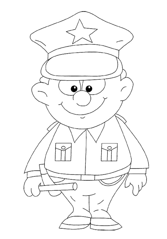700x1005 Strong Policeman Coloring Page For Kids Kids Coloring Pages
