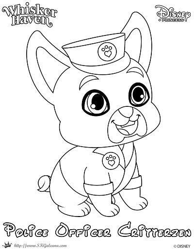 400x517 Whisker Haven Coloring Page Of A Police Officer Skgaleana