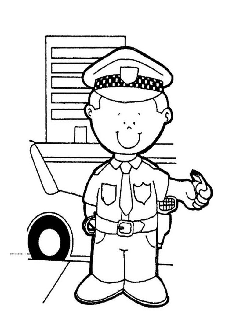 786x1024 Impressive Police Coloring Page 10