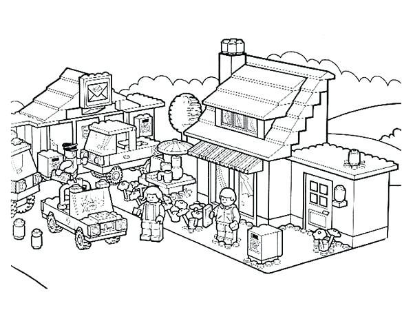 600x450 Lego City Coloring Pages Sheets City Coloring Pages For Free