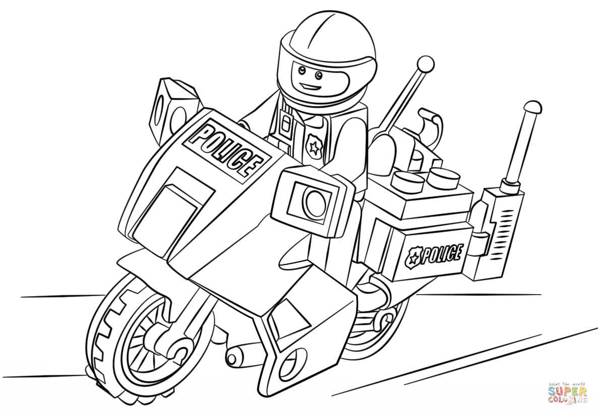 1186x824 Lego Moto Police Coloring Page Free Printable Coloring Pages