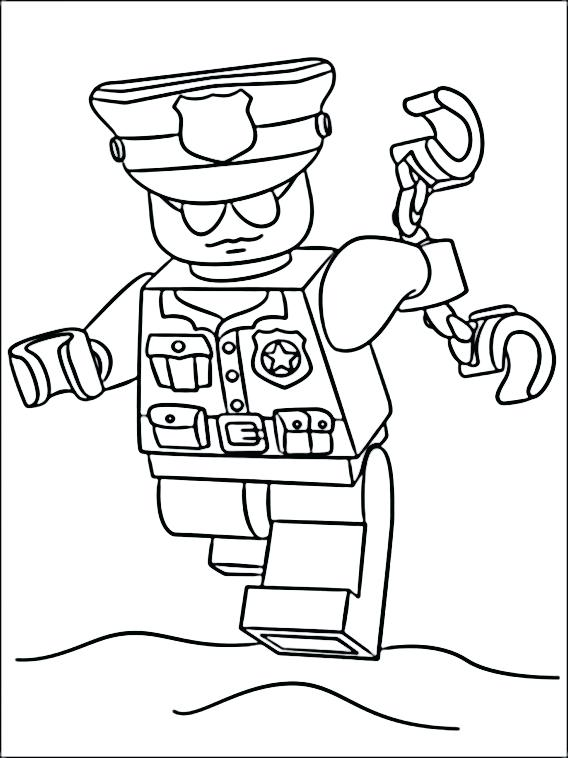 568x758 Lego Police Coloring Pages Coloring Pages The Thing Lego Police