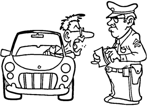 480x346 Traffic Police Coloring Page Free Printable Coloring Pages