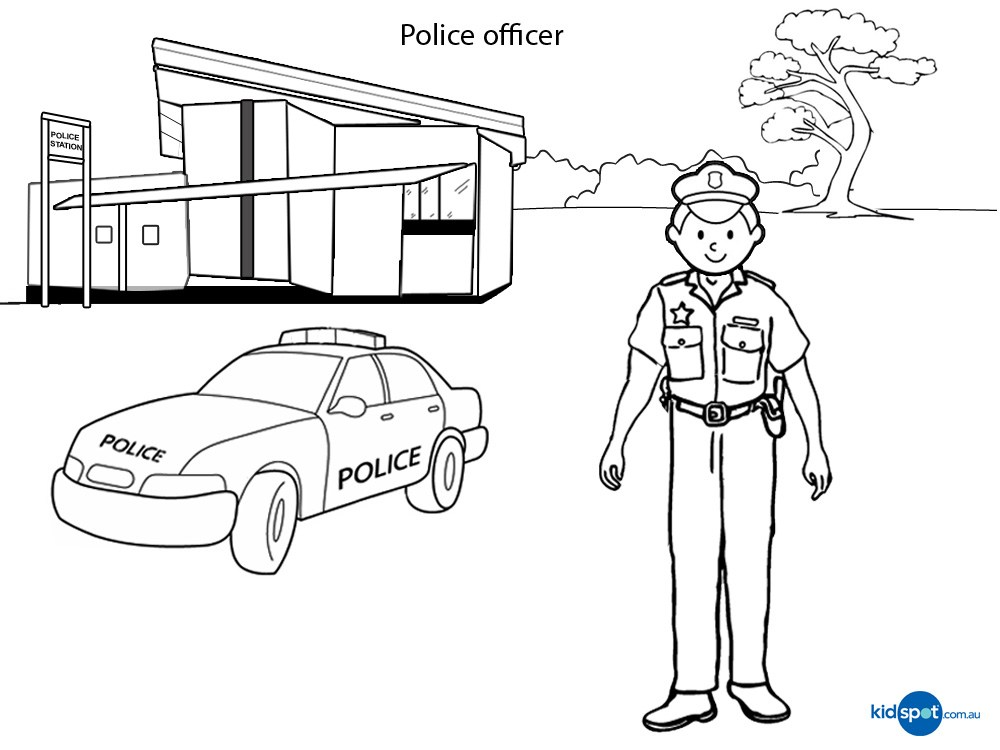 1000x750 Coloring Pages Police Station Coloring Page For Kids