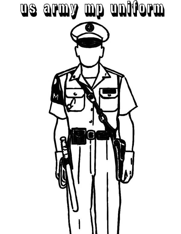 600x776 Police Officer Uniform Coloring Pages Coloring Page For Kids