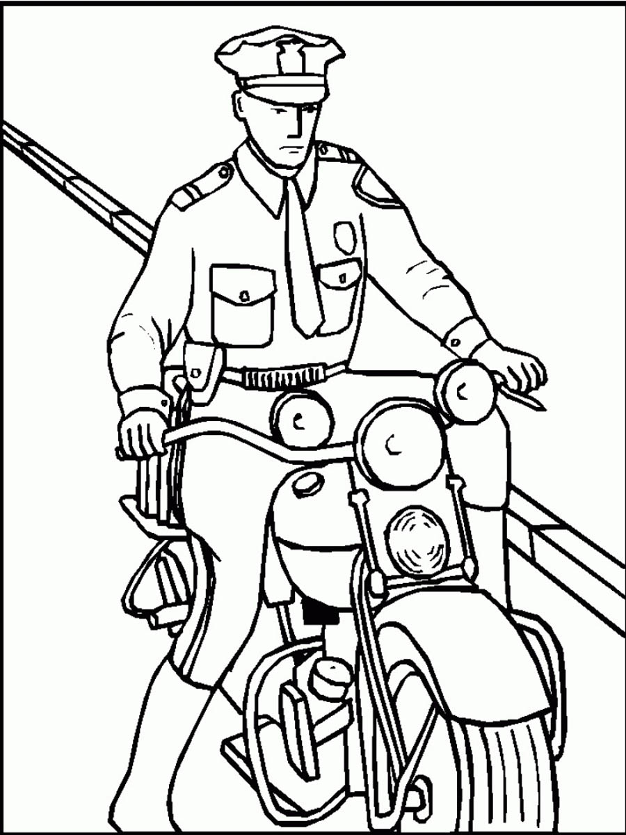900x1200 Largest Police Officer Coloring Pages Free Printable Policeman