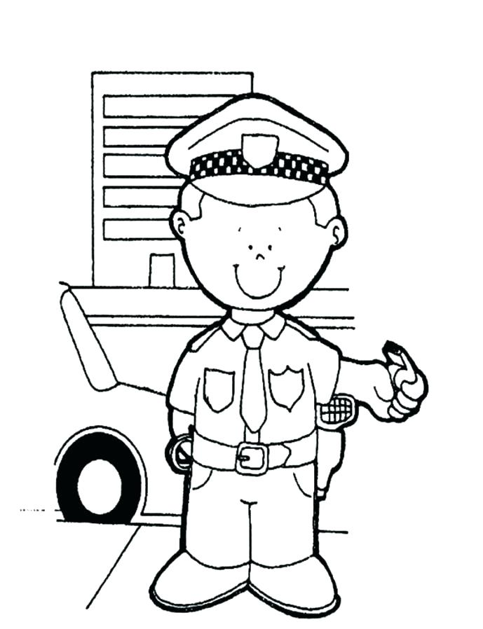 689x898 Police Officer Coloring Page 73 Plus Policeman Coloring Policeman