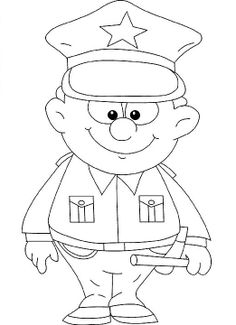 236x325 Police Officer Coloring Sheet Early Childhood Police Officer Thank